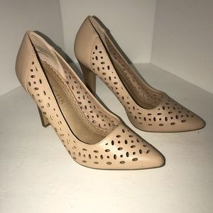 Restricted Blush Laser Cut Heels